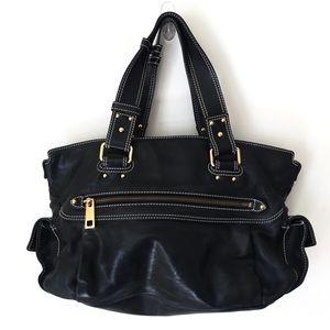 Vintage Marc Jacobs black leather buckle bag